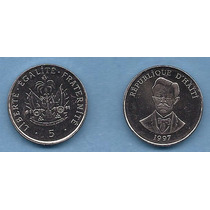 Haití Moneda De 5 Centimes Del Año 1997 - Km#154a - Sc