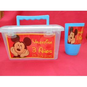 20loncheras Personalizadas +vaso Paquete Fiestas Cumpleaños