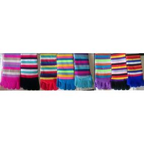 6 X Medias De Dedos Colores - Multicolores