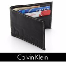 Carteira Masculina Pequena Calvin Klein Couro Frete Gratis