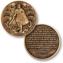 Armadura De Dios Alto Relieve Challenge Coin