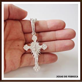 Pingente Crucifixo Médio Em Prata 950