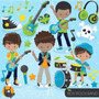 Kit Imprimible Rock Stars Imagenes Clipart Cod 7