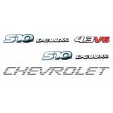 Emblemas S10 Deluxe 4.3 V6 + Faixa Prata - Até 2000