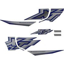 Jogo De Adesivos / Faixas Xt 600e 2000/2001 Azul
