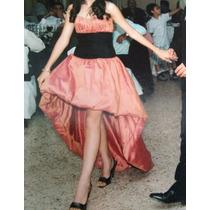 Vestido De 15 Fiesta Usado 1 Vez Impecable Seda Tornasolada
