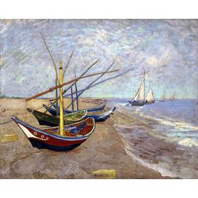 Lienzo Tela Barcos De Pesca En La Playa Vincent Van Gogh