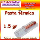 Pasta Térmica Disipadora Siliconada 1.5 Gr Procesadores Etc