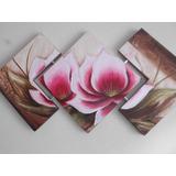 Lindo Quadro Flores, Tela, Painel Decorativo Em Têxtura