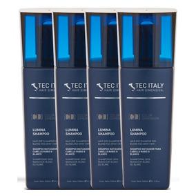 Kit Com 4 Shampoo Lumina - Matizador / 300ml - Tec Italy