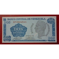 Venezuela Billete 2 Bolívares Unc 1989