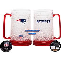 Nfl Tarro Congelable New England Patriots Patriotas Vaso Taz