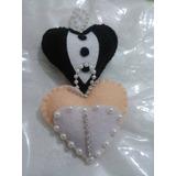 Lembrancinha Chaveiro Coração Casamento Kit Com 4und