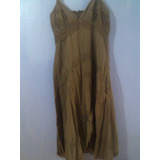 Vestido Hindu De Dama Talla Xl En Buen Estado. Color Marron