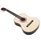 Guitarra Acústica Con Funda De Guitarra, Correa, Afinador Y