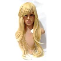 Peruca Lace Wig Lisa Loiro Claro Fibra Futura 70 Cm