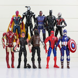 Muñeco Iron Man Black Panter Spiderman Vision Civil War X5