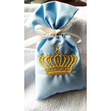 50 Sachês Bordados Coroa Principe Princesa Perfumados