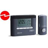 Timbre Inalámbrico C/ Termostato Reloj Y Alarma Negro.
