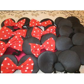 Exclusiva Vincha Artesanal Minnie Y Mickey