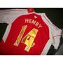 Camiseta Arsenal #14 Thierry Henry Ed.limitada Gold