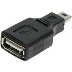 Adaptador Conversor Usb Femea Para Mini Usb Macho Conector 5