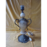 Antiguo Velador En Marmol Y Bronce Tipo Anfora 0800