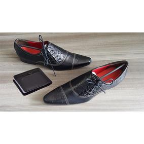 c363d446a3 Sapato Social Masculino Bico Fino Tamanho 37 - Sapatos Sociais 37 ...