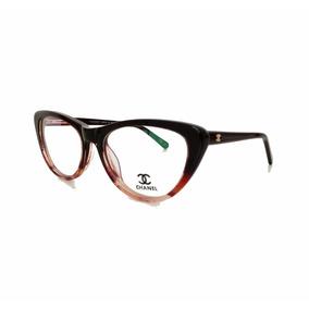 Armação Óculos De Grau Feminino Acetato Gatinha Ch3288