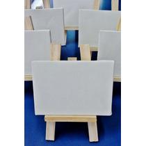 Mini Cavalete+ Tela 10x15cm P/pintura 35 Unid- Frete Grátis-
