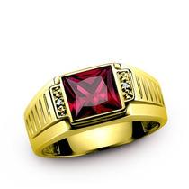 Anel Ouro Dourado 10k Rubi Diamante Safira Esmeralda