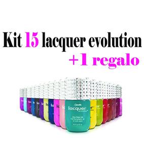 Kit 15 Lacquer Evolution 15 Ml ( Gel Gelish ) + Regalo