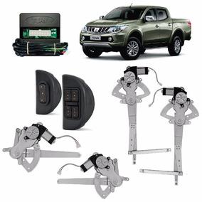 Kit Vidro Eletrico L200 Triton 4 Portas + Trava + Alarme
