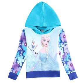Frozen Elsa Y Olaf Polera Gruesa Con Gorro Talla 18m A 4años