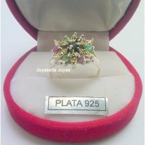 Anillo Plata 925 Con Pied Naturales Y Marques Nº17/20/14