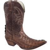Bota Country Masculina Exótica Texana Silverado Couro Jacaré