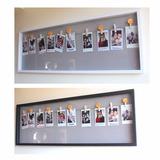 2 Cuadros Blanco Y Negro P/ Colgar Fotos Instax 20 Broches