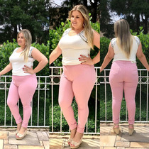 2 Calça Plus Size Skinny Cintura Alta Lycra Varios Cores!!!