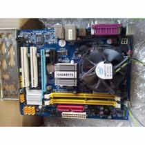 Kit Placa Mae 775 Ddr2 Gigabyte Ga-945gcm-s2c + Dual Core