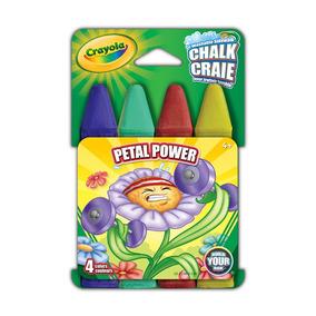 Crayola - Giz Chalk Lavável P/calçada 4 Cores - Petal Power