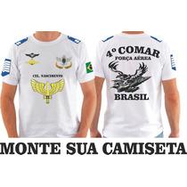 Camiseta Aeronautica Forças Armadas Personalizada Monte Sua