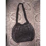 Bolsa De Crochê Com Aros De Latinhas Alumínio