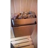 Calefactor Sauna Acero Inox. + Tablero Digital Lcd