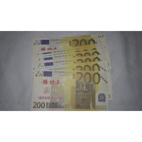 Para Colecionar 20 Cédulas Replicas 200 Euros Novas