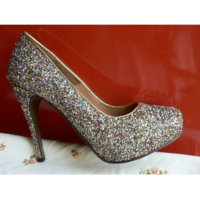 Zapato Muy Fino Paruolo Nº 40 Nuevo Glitter Fiesta O Jean