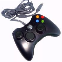 Controle Com Fio Xbox 360 E Pc Slim Joystick Sem Juros