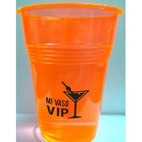 100 Vasos Neon Impreso Personalizado - Eventos Xv Años-boda