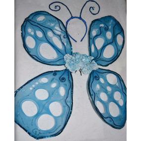 Alas De Mariposa Niña O Mujer Cosplay Disfraz Azul