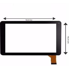 Tela Touch Screen Vidro Tablet Hyundai Hdt- 7433l Hdt 7443l