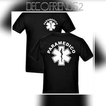 Remera Paramedico-policia-bombero. Mayorista